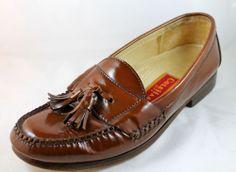 COLE HAAN City Brown Tassel Slip On Loafer Shoes 9 1/2 D