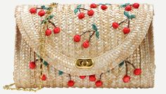 Perfect little handbag for summer! love this cherry clutch and its big enough to put your stuff in