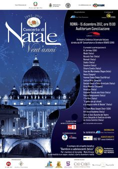 Si sono svolte presso l'Auditorium Conciliazione di Roma, le prove del Concerto di Natale 2012 www.concertodinatale.it, in programma il prossimo 15 Dicembr