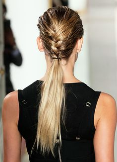 Wet braid/dry ponytail