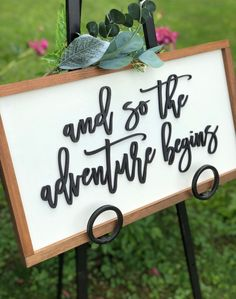 Wedding sign sign the adventure begins bridal shower gift nursery sign housewarming gift baby shower sign wedding decor Bridal Shower Signs, Baby Shower Signs, Travel Baby Showers, Wedding Shower Decorations, Before Wedding, Nursery Signs, And So The Adventure Begins, Traveling With Baby, Shower Gifts