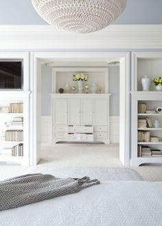 Love the colors-Benjamin Moore, Pebble Beach & White dove