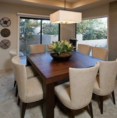 Another space-saving alternative is to buy rounded table. They can provide versatile sitting as it does not have restricting corners. Elegant Dining Room, Luxury Dining Room, Dining Room Design, Dining Room Furniture, Dining Room Table, Furniture Market, Dinner Room, Dining Room Inspiration, Living Room Decor