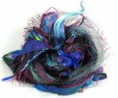Watermark Elements 26yds Textile Fiber Art Embellishment Trim Specialty Ribbon Bundle Sapphire Lapis Aqua Magenta Buy Any 6 Get 1 Free