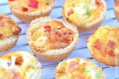 Easy recipe for kids - super simple mini quiches - great for picnics lunch boxes and party food with free printable recipe sheet from Eats Amazing UK