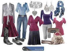 True Summer - Kibbe Romantic Polyvore for a Stay at Home Mom by True Colour Australia