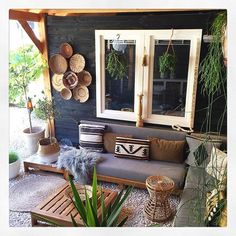 patio and garden ideas Ideen fr Mbel und Dekor im Boho-Stil Garden Furniture Design, Diy Outdoor Furniture, Furniture Decor, Outdoor Decor, Modern Furniture, Rustic Furniture, Furniture Layout, Furniture Makeover, Antique Furniture