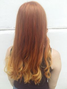 Ginger hair and balayage