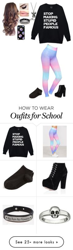 """Untitled #448"" by haleyparis on Polyvore featuring SpyLoveBuy, Disney, Pink Box, King Baby Studio, Casetify and Wolford"