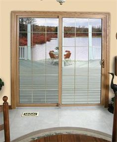 Patio doors add a view to from your deck without the worry of the weather!