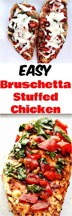 Easy, Low-carb bruschetta stuffed grilled chicken marinated to perfection and grilled and baked for optimal taste. This chicken is sliced and filled with basil, balsamic vinegar, and tomatoes, perfect for meal prep. You can also use dried tomatoes in this recipe. #ChickenRecipes #Chicken #StuffedChicken #BruschettaRecipe #grillingrecipes