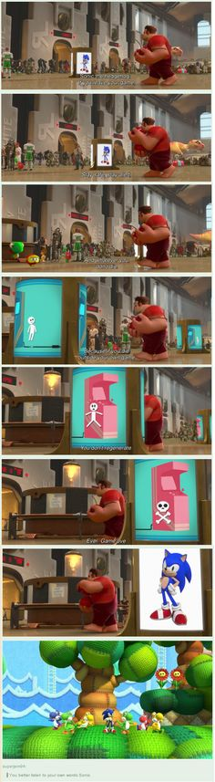 That moment in which you realize that, tecnically, Sonic has gone Turbo #Wreck-it-Ralph
