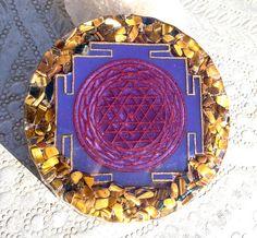 Sri Yantra Orgonite Charging Plate ~ meditate, activate, REMEMBER!