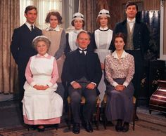 Nostalgia: cast from the classic TV series Upstairs, Downstairs.another of my bbc favs Safari, Vintage Television, Public Television, Bbc Drama, Old Time Radio, Comedy Tv, Old Tv Shows, Vintage Tv, Classic Tv