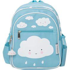 29beb990443 Σακίδιο σύννεφο Little Lovely Company A Little Lovely Company, Blue Clouds,  Back Bag,