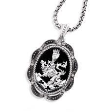 The Official Twilight Jewelry Collection Cullen Crest Women''s Onyx & Diamond Pendant - 22' Chain - Bed Bath & Beyond