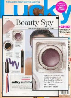 Lucky (July 2012) featuring Amazonian clay waterproof cream eyeshadow - tarte cosmetics #colorsofsummer