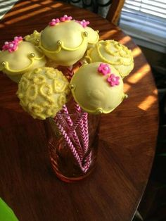 Cake pops at a Beauty and the Beast Party