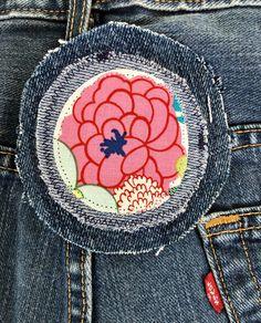 Denim redo patch for your denim jacket, jeans patch, denim tote... http://etsy.me/2obGoLq