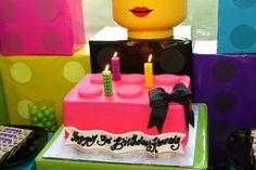 "Photo 21 of Lego / Birthday ""Kennedy's Lego Party"" Lego Friends Cake, Lego Friends Birthday, Lego Friends Party, Lego Birthday Party, Birthday Cake Girls, Birthday Parties, Birthday Cakes, 8th Birthday, Birthday Ideas"