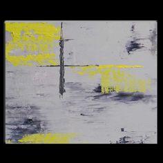Yellow and Grey Abstract.  Visit my shop at www.etsy.com/shop/hinckleyabstracts
