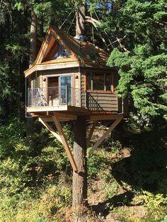 Tree Houses - Stunning 30+ Wonderful Tree Houses.You'll Love It! https://modernhousemagz.com/30-wonderful-tree-house-youll-love-it/