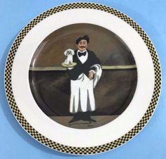 "Guy Buffet WAITER SUITE Dinner Plate ""Monsieur Edgar"" MON EDGAR Williams Sonoma #eBayDanna"