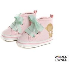 Child of Mine by Carters Newborn Baby Girl Monkey High Top Sneakers - Walmart.com