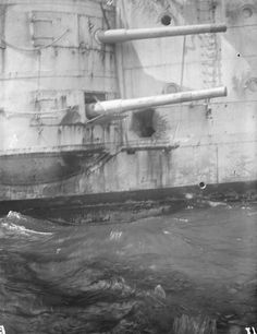 Damage to the hull of HMS Kent caused by shell-fire from SMS Nürnberg at the Battle of the Falkland Islands 8th December 1914 http://www.britishbattles.com/battle-of-the-falkland-islands/