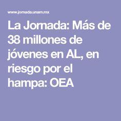 La Jornada: Más de 38 millones de jóvenes en AL, en riesgo por el hampa: OEA