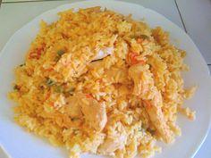 arroz con pollo - rice with chicken.