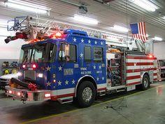 Patriotic Fire Engine #Fire #Rescue #Setcom