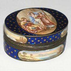 French Gilt Silver and Enamel Snuff Box c. 1775