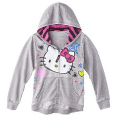 #hellokitty #girls #grey #hoodie