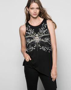 T-shirt Bershka papillon pointes - New - Bershka France
