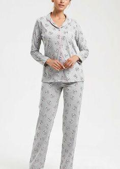 Koalina Maskülen Pijama Takımı - GRİ BASKILI Bloom Coffee, Dark Flowers, Mavis, Pajama Pants, Model, Fashion, Moda, Sleep Pants