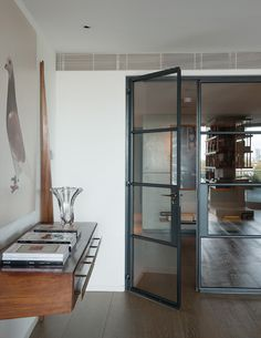 Tara Bernerd - Steel-and-glass doors by Crittall at the home of London designer Tara Bernerd