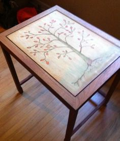 End Table With Tree