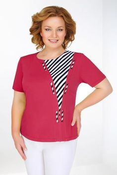44 Plus Size Blouses To Inspire Yourself Gorgeous Plus Size Blouses from 44 of the Cool Plus Size Blouses collection is the most trending fashion outfit this season. This Plus Size Blouses lo. Blouse Styles, Blouse Designs, Modest Fashion, Fashion Dresses, Sewing Blouses, Techniques Couture, Altering Clothes, Elegant Outfit, Plus Size Blouses