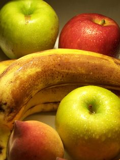 Apples, bananas and peaches
