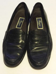 BRAGANO Men's Dress Loafers Shoes SZ 10 M Black Leather CRAFTED IN ITALY #BRAGANO #LoafersSlipOns