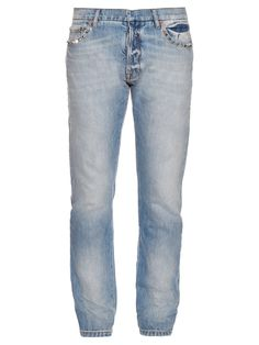 cc1ac8106a7f Off-White Frayed mid-rise cropped jeans (€330) ❤ liked on Polyvore ...