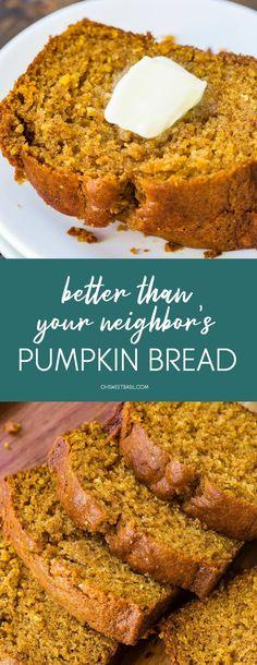 Pumpkin Recipes, Fall Recipes, Holiday Recipes, Turkey Recipes, Quick Bread Recipes, Cooking Recipes, Vegan Recipes, Sweet Breakfast, Breakfast Recipes