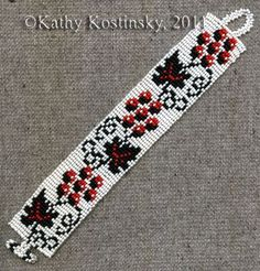 Ukrainian Ornament: Grapes. Bracelet - Item Number 17704