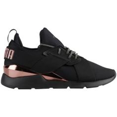 b69de07c24b PUMA Muse Metal - Womens Shoes - Black Rose Gold - 36704701001 Size 8