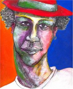 """Charles Bibbs Hand Signed and Numbered Limited Edition: """"Colored Man"""""""