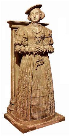 Statue of Barbara of Brandenburg, Duchess of Brieg (Brzeg) by Andreas Walther and Jakob Warter, 1551-1553, Zamek Piastów Śląskich w Brzegu