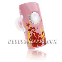 Bluesonic HCB95-02 Micro Bluetooth Headset, Sweet Dream (pink). Adjustable volume control by touching a single button. Supports internet phone call; voice dialing, three-way calling and call waiting by touching a single button (contact your cell phone provider for more information). The rechargeable built-in Li-polymer battery provides 5 hours of talk time and 150 hours of stand-by time. Compatible with most Bluetooth capable cell phones. Includes AC Adapter and USB cable; item can be...