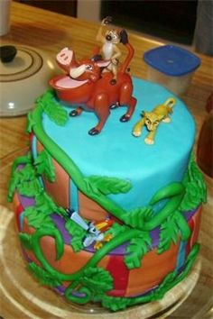 Lion King 2nd Birthday Lion King Theme, Lion King Party, Lion King Birthday, Baby First Birthday, 2nd Birthday Parties, Birthday Ideas, Birthday Cake, Awesome Cakes, Cute Cakes