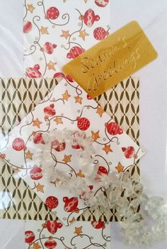 "Handmade 6"" x 4"" Christmas Jewellery Card with Clear Quartz bracelet new #Handmade #Christmas"